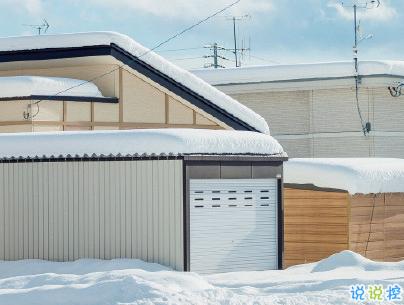 朋友圈晒雪景的句子带图片 下雪说说唯美简短配图9