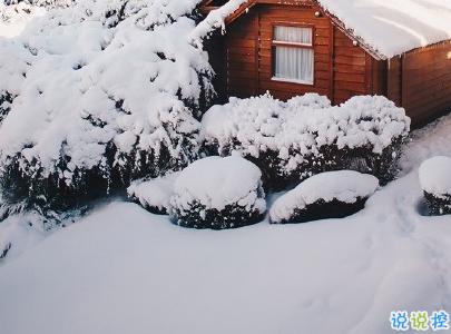 朋友圈晒雪景的句子带图片 下雪说说唯美简短配图3
