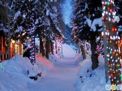 冬天下雪天文案唯美带图片 抖音最火下雪天说说12