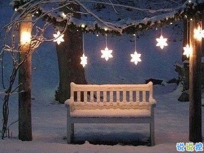 冬天下雪天文案唯美带图片 抖音最火下雪天说说9
