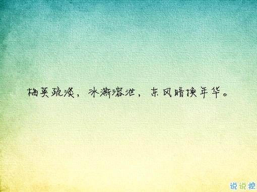 唯美有意境古诗句子带图片 写入心间的伤感诗句9