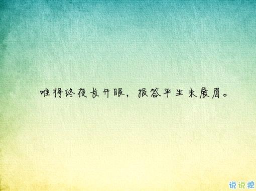 唯美有意境古诗句子带图片 写入心间的伤感诗句6