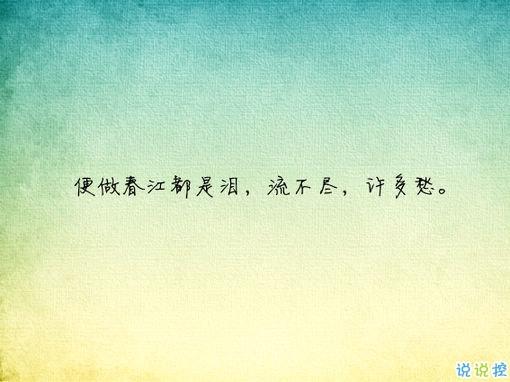 唯美有意境古诗句子带图片 写入心间的伤感诗句5
